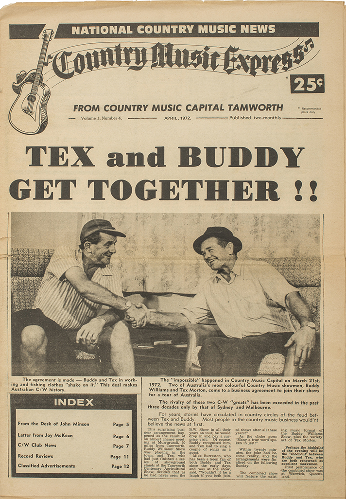 Country Music Express, Vol. 1, no. 4, April 1972, 10 pages. Published bi-monthly.